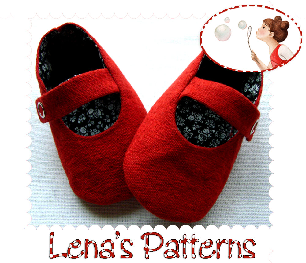 Red Baby Mary Jane Shoes Sewing Pattern And Tutorial On Luulla
